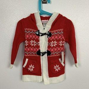 Little Lass Girl Hoodie Sweater Christmas Sz: 24M